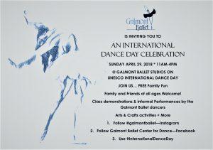 Galmont Ballet International Dance Day Celebration...
