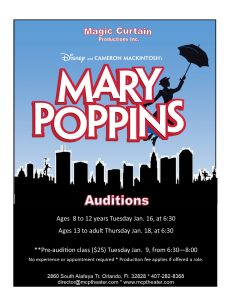 Mary Poppin Auditions