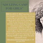ADULTING CAMP FOR GIRL; Preparing Girls For Life