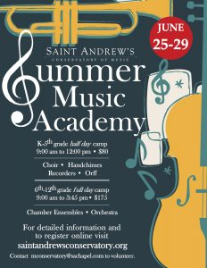 Saint Andrew's Conservatory Summer Music Academy