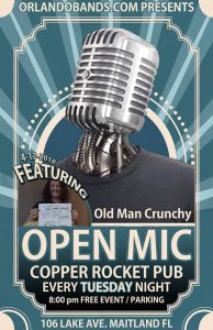 Open Mic Night featuring Old Man Crunchy