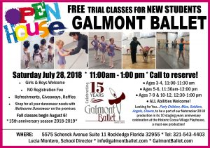 Galmont Ballet 15th anniversary Open House 2018