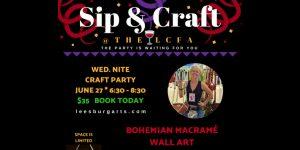 Sip & Craft - Boho Macrame Wall Art Party