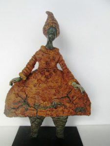 Textured Mixed Media Sculpture