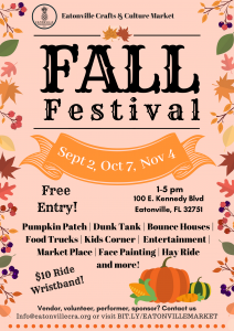 Eatonville Crafts & Culture Market Fall Festiv...