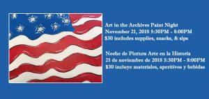 Art in the Archives Paint Night - 11/21/18