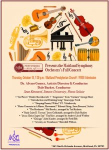 Maitland Symphony Orchestra Fall Concert