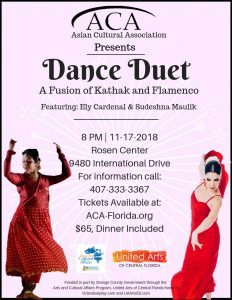 Dance Duet: A Fusion of Kathak and Flamenco