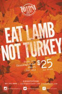 Thanksgiving at Taverna Opa