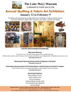 Annual Quilting & Fabric Art Exhibit