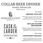 Beer Dinner collaboration with Edmods Oats and The Ravenous Pig