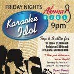 Aloma Bowl's Karaoke Idol Qualifying Round January 11