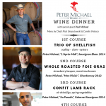Peter Michael Wine Dinner at The Ravenous Pig with special guest Paul Michael