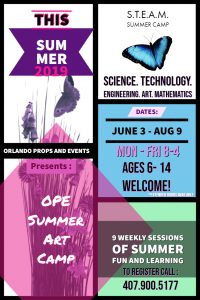 Orlando Props and Events Summer Art Camp
