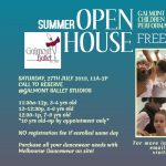 Galmont Ballet Summer Open House 2019 Saturday July 27