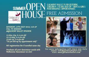 Galmont Ballet Summer Open House 2019 Saturday Jul...