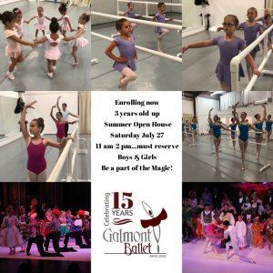 Galmont Ballet Fall Classes begin August 5