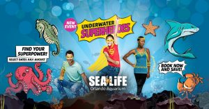 Underwater Superheroes at SEA Life Orlando Aquariu...