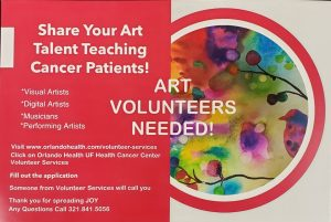 Share Your Art Talent Teaching Cancer Patients!