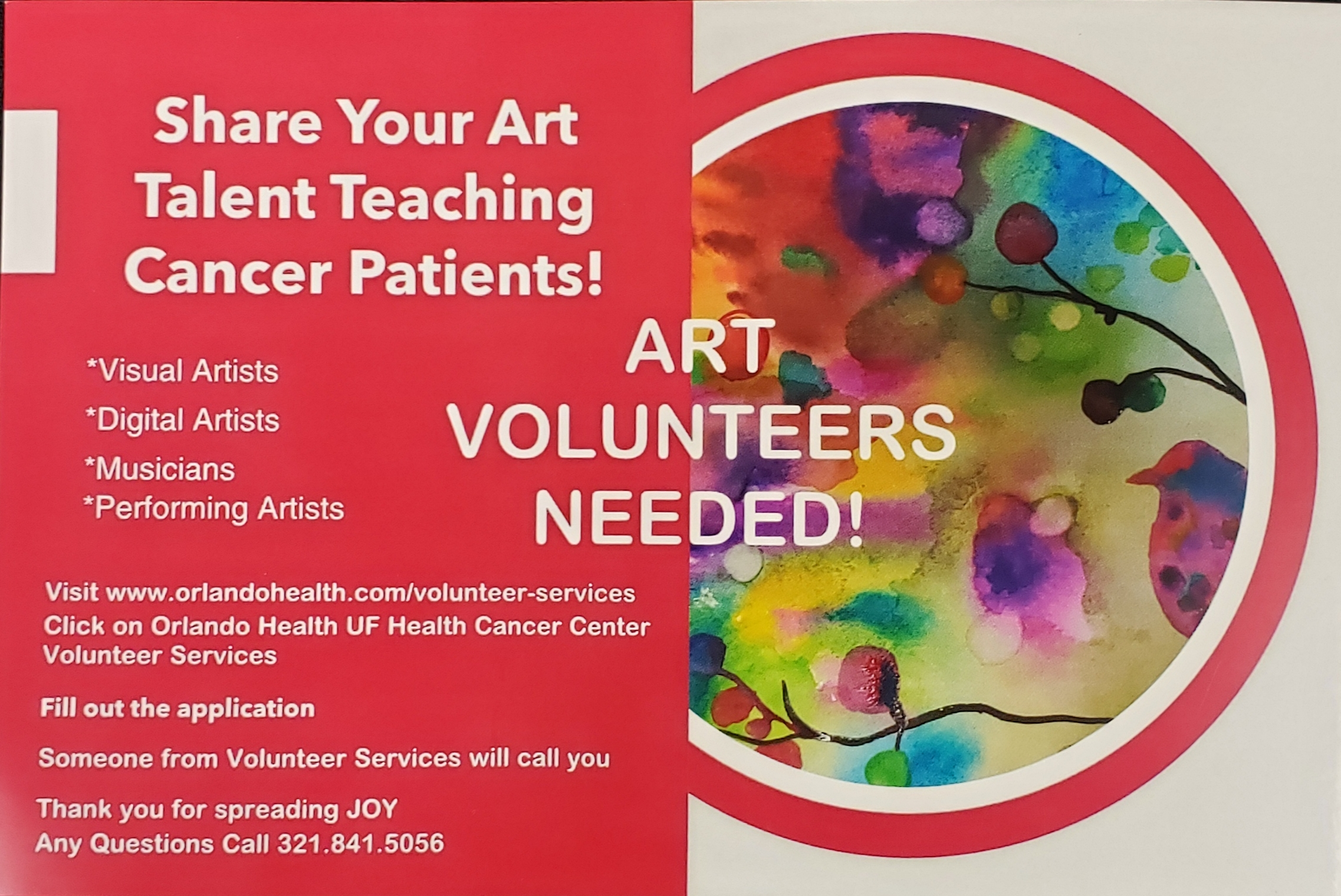Share Your Art Talent Teaching Cancer Patients! presented by
