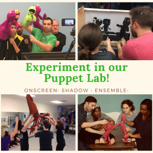 """Experiment in MicheLee Puppets' """"Puppet Lab"""""""