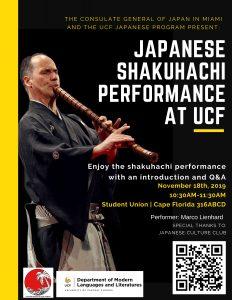 Free Japanese Shakuhachi Performance at the UCF St...
