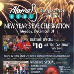 Aloma Bowl's daytime NYE celebration