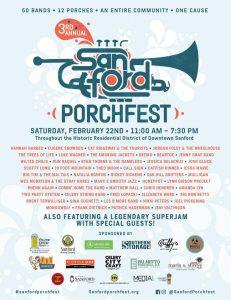 3rd Annual Sanford Porchfest Music Festival