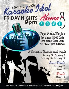 Enter Aloma Bowl's Karaoke Idol for a chance to ...