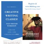 ​Teen Writers Workshop at the Holocaust Center! (March 8th)