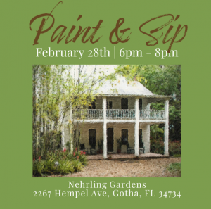 Paint & Sip at Nehrling Gardens