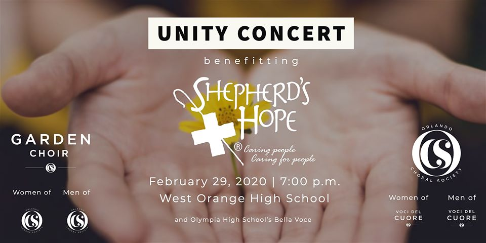 Shepherd School Chorale Christmas Concert 2020 Unity Concert 2020: Benefiting Shepherd's Hope, Orlando Choral