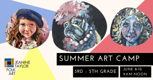 Summer Art Camp - Grades 3rd - 5th