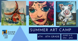 Summer Art Camp - Grades 6th - 8th