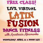 Free Virtual Latin Fusion Dance Fitness Group Class