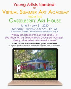 City of Casselberry's 2020 Virtual Summer Art Acad...