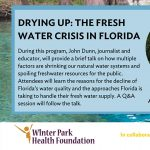 Drying Up: The Fresh Water Crisis in Florida (Webinar)