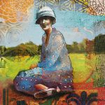 Christine Peloquin's Mixed Media Collage at McRae Art Studios
