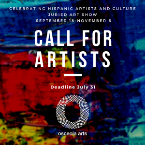 CALL FOR ARTISTS! Celebrating HIspanic Artists and...