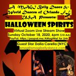 Halloween SPIRIT Virtual Show by A MAGI Belly Dance Witches, Vampires, Snakes, Fire!