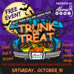 Halloween trunk or treat at Aloma Bowl