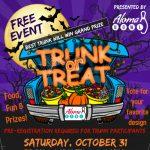 Halloween trunk or treat at Aloma Bowl