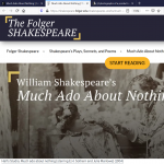 Virtual Event: Shakespeare LIVE!
