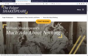 Virtual Event: Shakespeare LIVE!