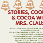 Cocoa, stories and cookies with Mrs. Claus