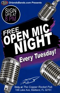 Open Mic Night at the Copper Rocket!
