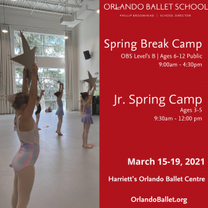 Orlando Ballet Spring Break Camp