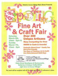 Spring Fine Art & Craft Fair in Historic Cocoa...