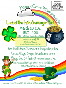 Luck of the Irish Scavenger Hunt in Historic Cocoa...