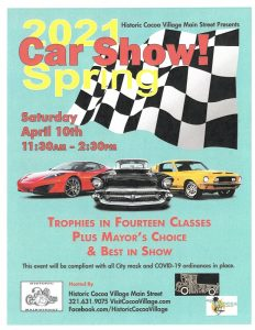 Spring Central Florida Car Show in Historic Cocoa Village